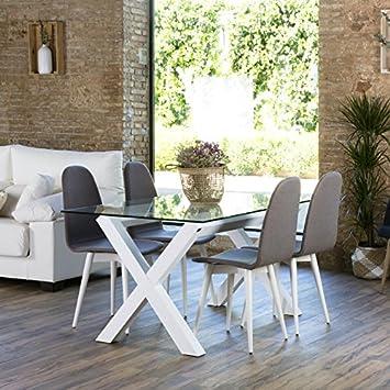 Gauss Tischgestell Esszimmer Weiss   Holz   130x67x73 Cm   Farbe Weiß Winter