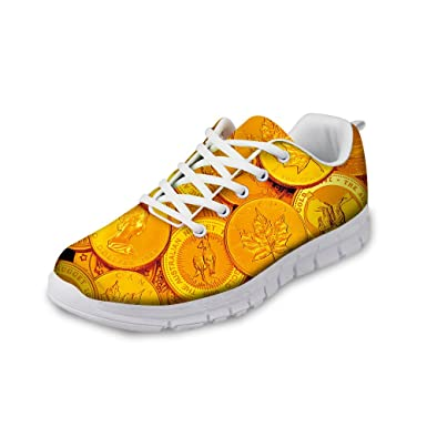 68f07b48ba771 Amazon.com: Men's Gold Breathable Road Running Shoes: Clothing