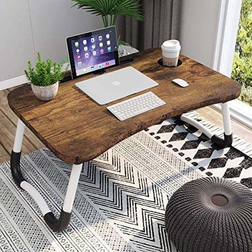 Laptop Desk for Bed, Portable Laptop Bed Tray Table with Foldable Legs, Laptop Table for Students, Eating, Working, Writing, Gaming, Foldable Bed Tray for Drawing on Bed, Couch, Sofa, Floor