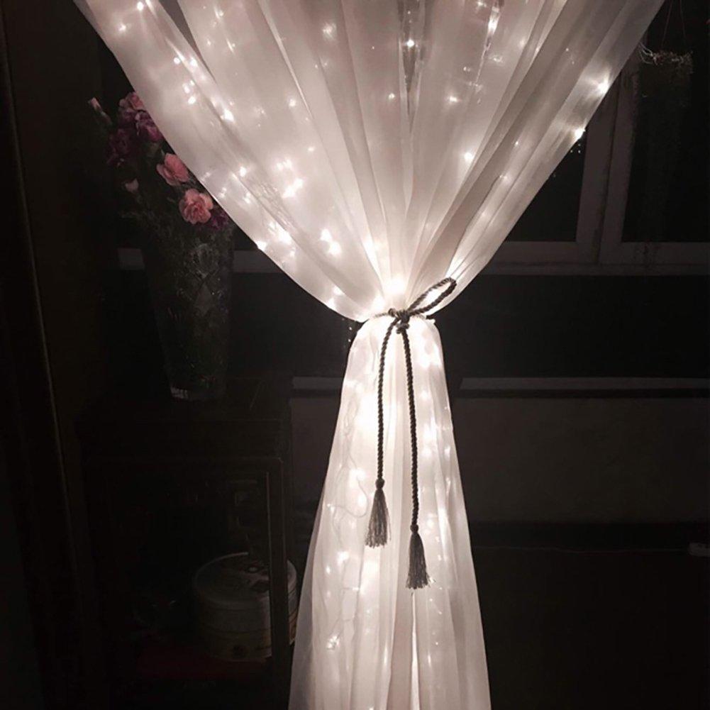 Venkaite LED Fenster Vorhang Eiszapfen Lichterkette 300 LEDer innen ...