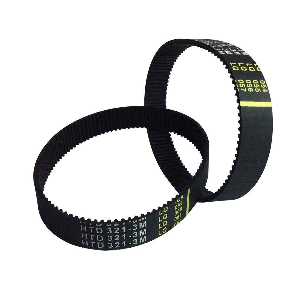 BEMONOC HTD 3M Closed-loop Timing Belt 276mm Length 92 Teeth 15mm Width Rubber Custom Belts 2Pcs//pack