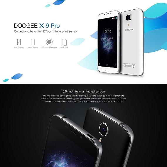 DOOGEE X9 Pro Fingerprint Smartphone Libre 4G Android 6.0(Pantalla ...