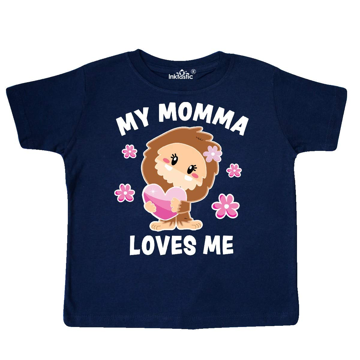 inktastic My Momma Loves Me with Bigfoot Toddler T-Shirt