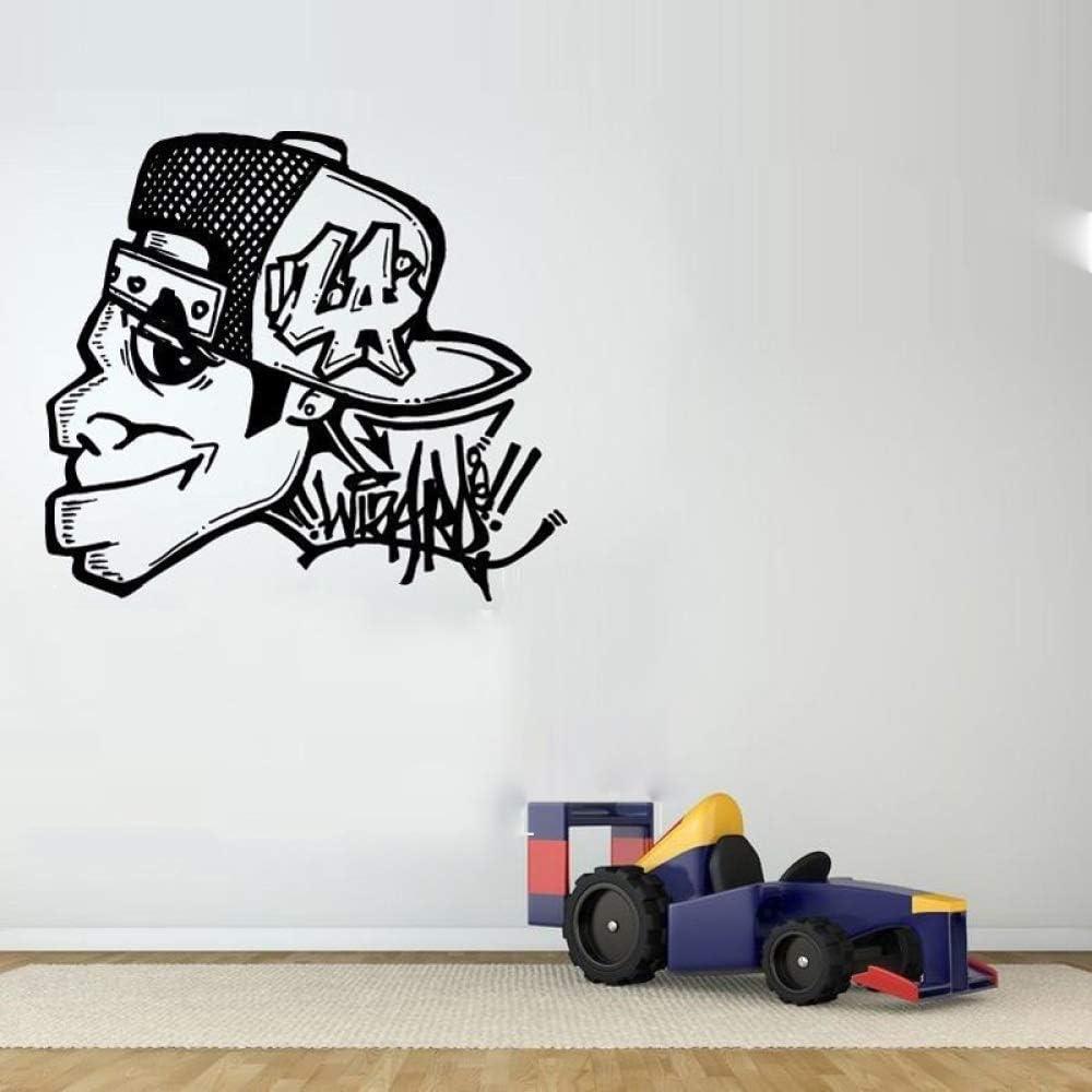 Graffiti Tipo Cara de la Cara Personalizada Nombre Etiqueta de la Pared para el hogar murales decoración de la Sala de Vinilo Wallpaper calcomanías niños Dormitorio Rosa 84X105 cm: Amazon.es: Hogar