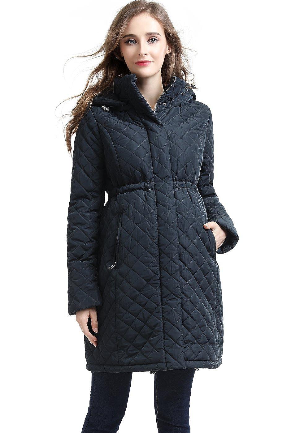 Momo Maternity Prue Quilted Parka Coat 924-150290-STG-L