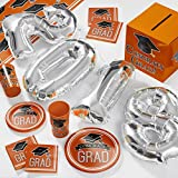2018 Graduation School Spirit Orange Deluxe Party Supplies Kit