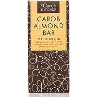 The Carob Kitchen Carob Almond Bar 80g, Gluten Free, No Added Sugar, Naturally Sweet, ACO Certified Organic, Non GMO, 80…