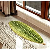 "BOBO Leaf-shaped Carpet Soft Carpet Slip Resistant water absorption Floor Mats For Parlor Living Room Bedroom Home Supplies (Size 45 120 cm /17.7""W47.2""L)"