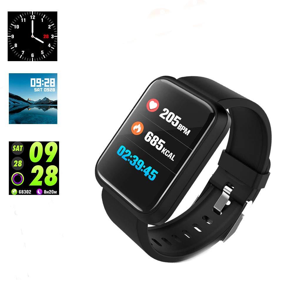 Cardiofrequenzimetro fitness tracker e pressione, impermeabile Smartwatch da running sport per contatore di calorie per iOS smartphone Android Wuer