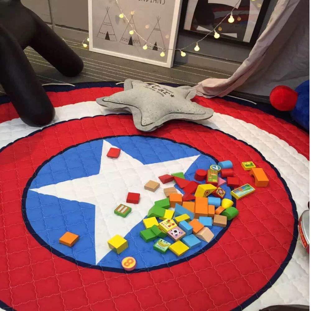 QXMEI Storage Mat Toy Round Cartoon Children's Environmentally Friendly Crawling Mat Storage,C by QXMEI (Image #2)