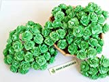 100 Pcs Mini Rose 15 mm Mint Green Mulberry Paper Flowers Handmade Craft Project Cardmaking Floral Valentine