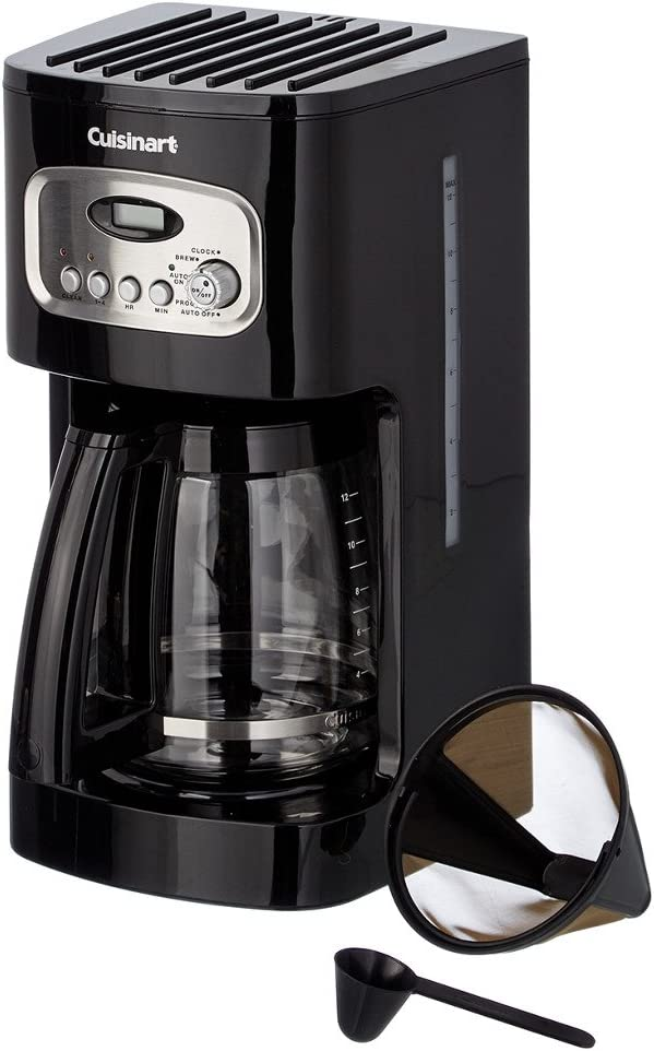 Cuisinart Programmable Coffeemaker Digital, Filter Brew 12 Cup Black Charcoal Water Filter