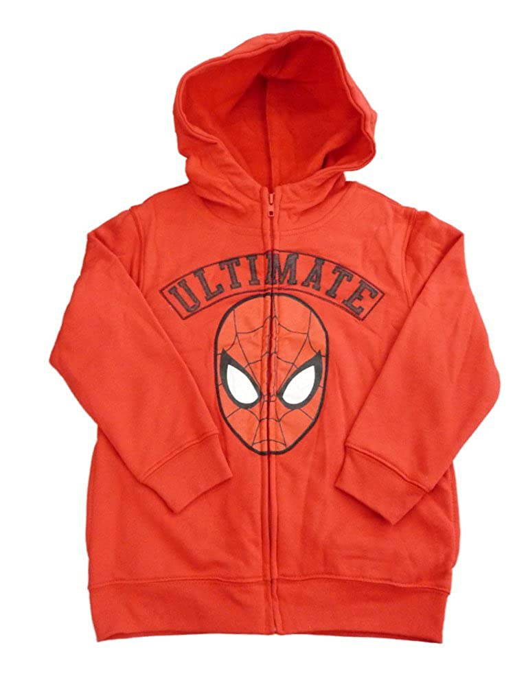 456fefe05b76 Amazon.com  Marvel Comics Ultimate Spider-Man Boys Red Zip Up Hoodie  Sweatshirt  Clothing