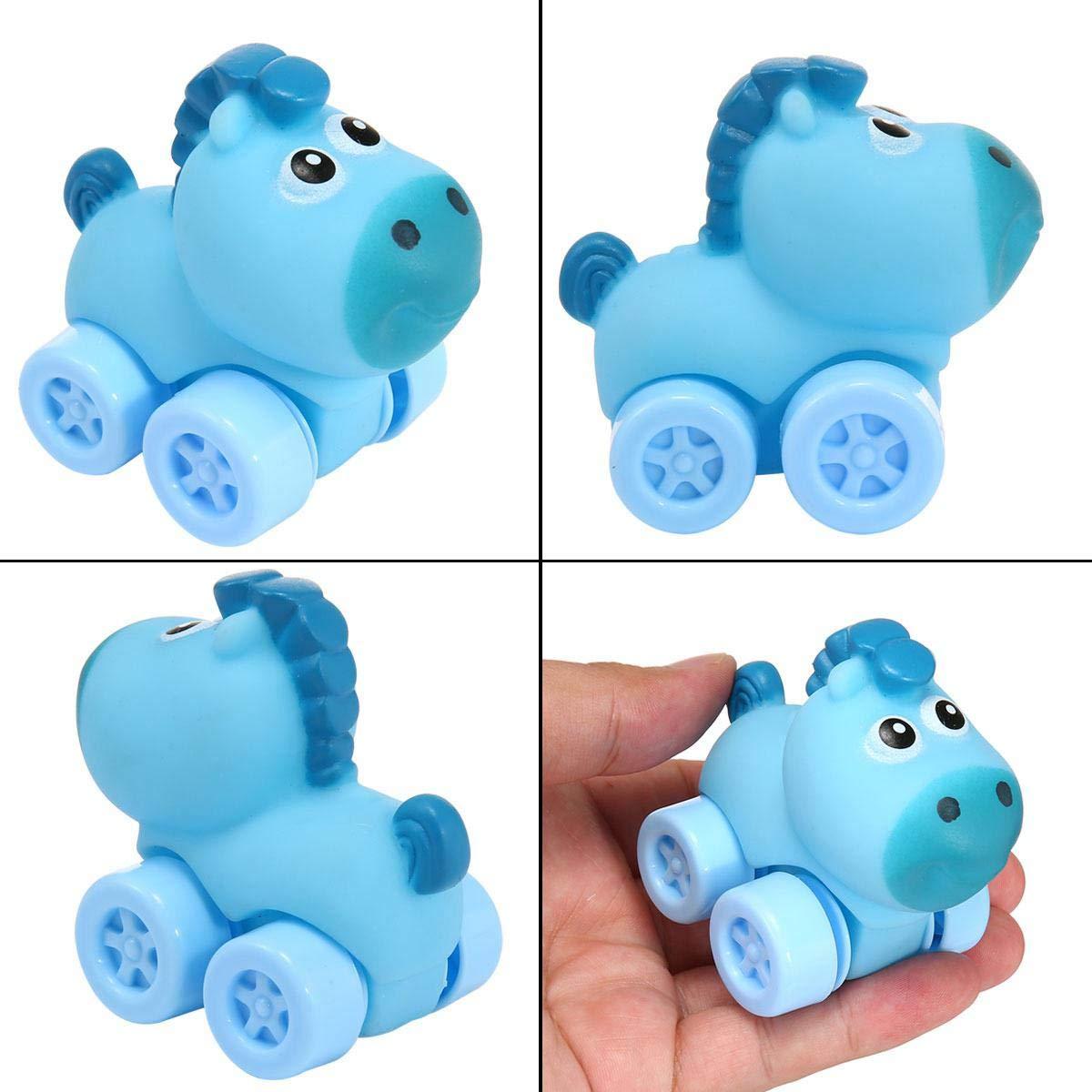 Giocattoli Cartoon Animal Auto Set 6/Mini Auto Giocattoli per Bambini Giocattoli educativi Giocattoli Auto in Gomma Morbida per Bambino del Bambino per Bambini Womdee Auto Giocattoli per Bambini