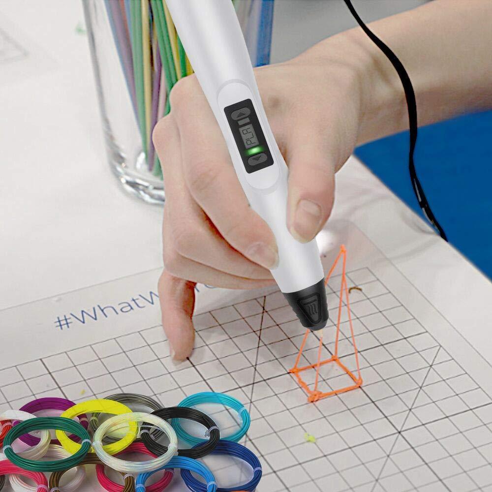 3D Printer Pen DIY Drawing 3D Drawing Pen for Kids Artist Friends Compatible with PLA Filament,Doodling 3D Pen 3D Printing Pen 3D Pen Adults