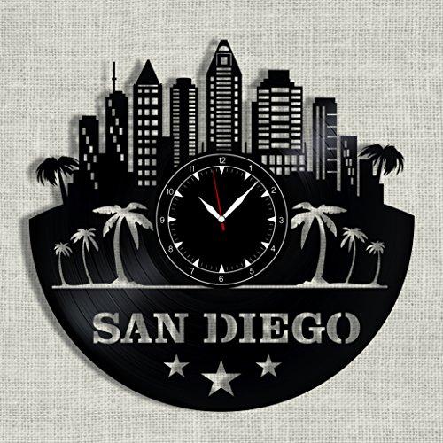 SofiClock San Diego City Vinyl Record Clock 12
