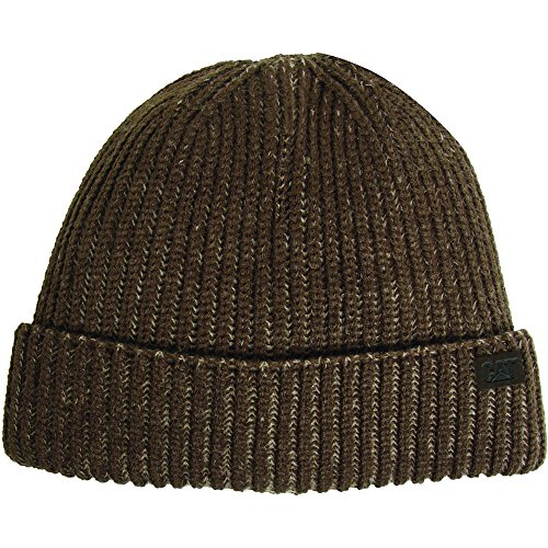 Womens CAT Up Duffle Mens amp; Turn Green Traditions Caterpillar Beanie Workwear Hat fwIqrf