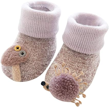 Anti-slip Sole Toddler Indoor Sock Baby Shoes Flats Soft Slippers Kids Booties