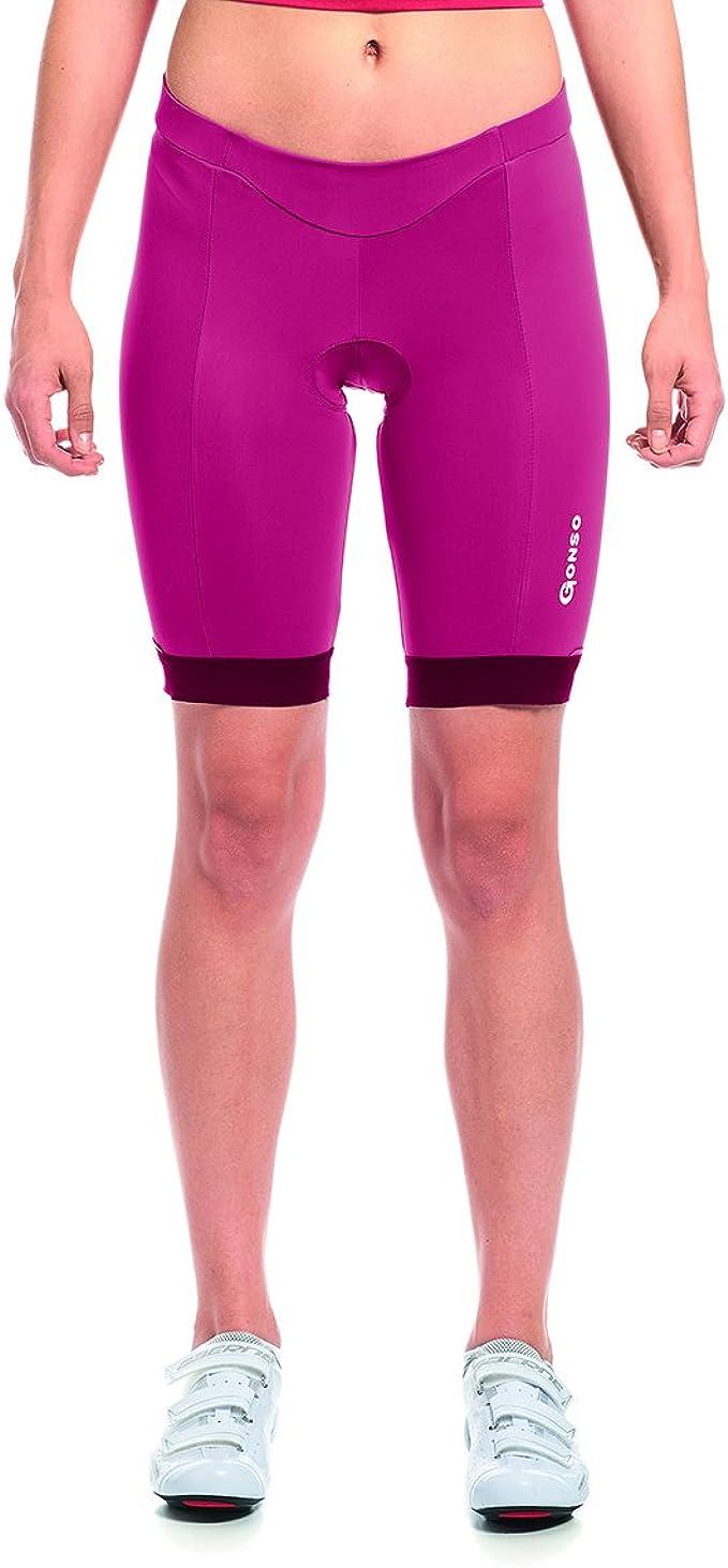 Gonso FORTUNA Körpernah geschnittene Damen Rad Hose mit Sitzpolster #26105