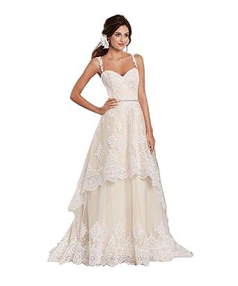 Mingxuerong Hochzeitskleid Champagner Abnehmbarer Rock Brautkleid ...