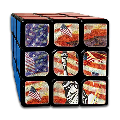 AVABAODAN The Statue Of Liberty Rubik's Cube Custom 3x3x3 Magic Square Puzzles Game Portable Toys-Anti Stress For Anti-anxiety Adults Kids by AVABAODAN