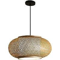 LIWENGZ Bamboo Woven Chandelier, Bamboo Wicker Lampshade, Ceiling Lamp, Restaurant Balcony, Farmhouse, Bar Decoration…
