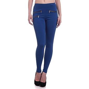 HIGHTIDE® Blue Jeggings for Women Women's Jeans & Jeggings at amazon