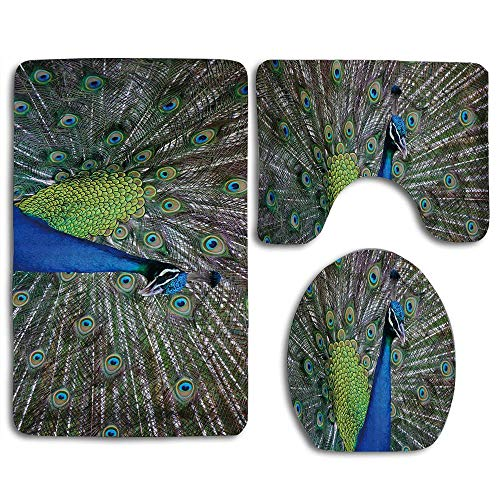 NEWcoco Elegant Peacock Displaying Feathers Open Wings