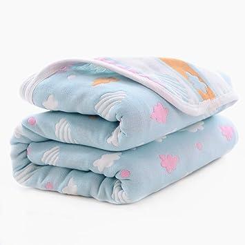 Rabbit Blue Baby Gauze Blanket//Comforter//Swaddle Boys Girls Bed Quilt 100/% Muslin Cotton 6 Layered Crib Dream Blankets for Newborn Toddler Kids