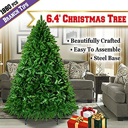 none big size 64ft christmas tree artificial realistic natural branches 1880 tips holiday indoor outdoor - Big Indoor Christmas Decorations