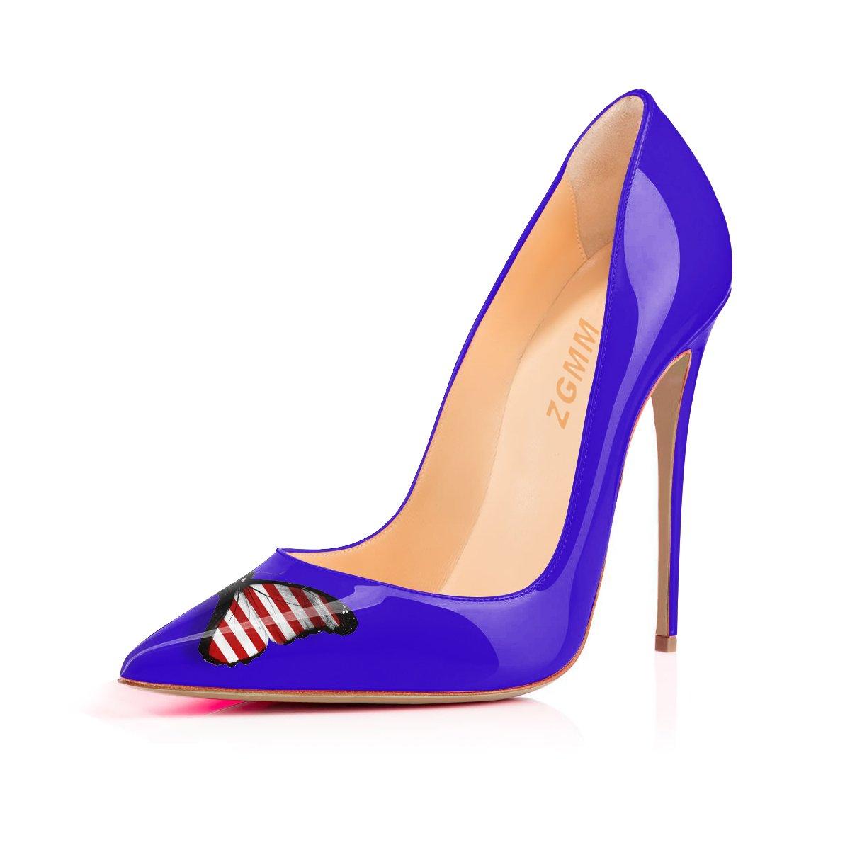 MMGZ - Zapatos de Vestir Mujer 36 EU|Azul