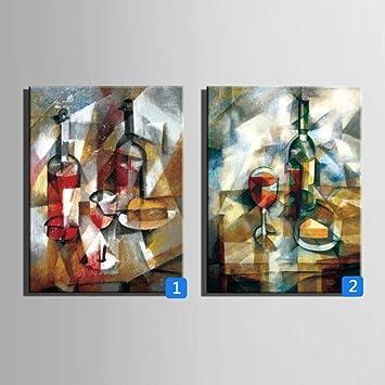 Amazon.com: ZHANGM Oil Paintings on Canvas Wall Art ...