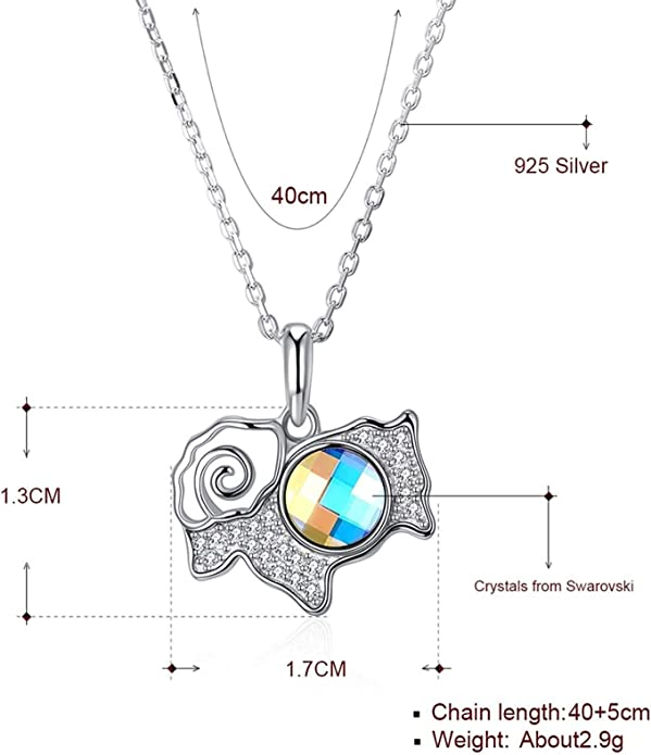 925 Sterling Silver 0.78 ct Oval Shaped Cubic Zirconia Necklace Pendant
