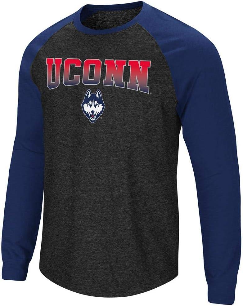 メンズ Uconnector, Connecticut Huskies 長袖ラグランTシャツ  X-Large