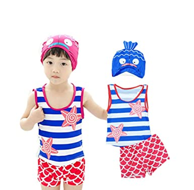 8b5013034a Gardening Spring New Boys Cute Fish Shaped Children Two-pieces Swimsuit  Swimming Trunks Swimming Cap