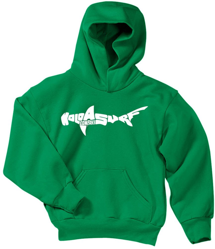 Joe's USA Koloa Surf Shark Logo Youth Hoodies-Pullover Hooded Sweatshirts in 24 Colors USALSHARK711733