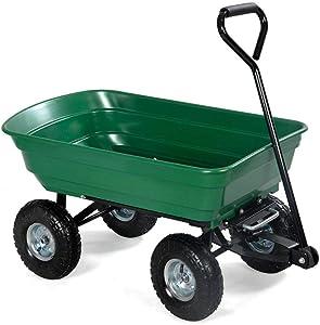 Home Rich Cart Garden Dump Dumper Heavy Wagon Carrier Heavy Duty Air Tires Steel Lbs Utility 600lb