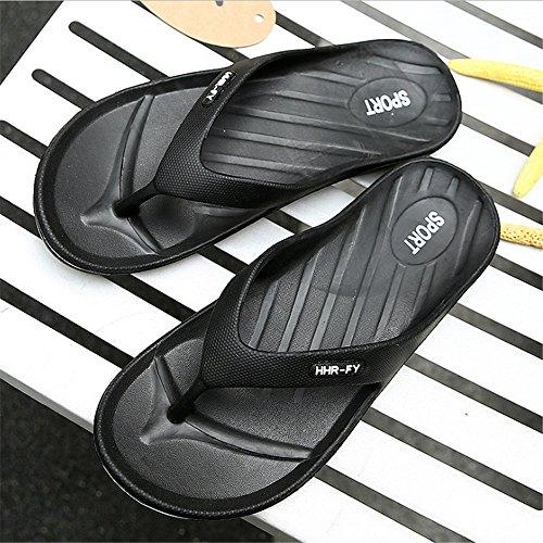 Negro De Verano para De Playa Antideslizantes tamaño Negro 40 De Color Chanclas EU Wangcui Zapatillas Ocio Verano De De Hombres Verano Pqw7RC