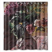 DebbieBrown Lovis Corinth - Chrysanthemen Und Rosen Im Krug Polyester Bath Curtains Width X Height / 66 X 72 Inches / W * H 168 By 180 Cm For Custom Her Him Kids Boys Lover. Machine Washab