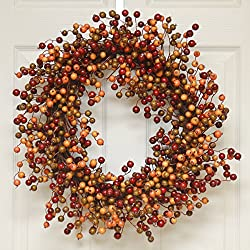 Fall Berry and Leaf Wreath WR4889