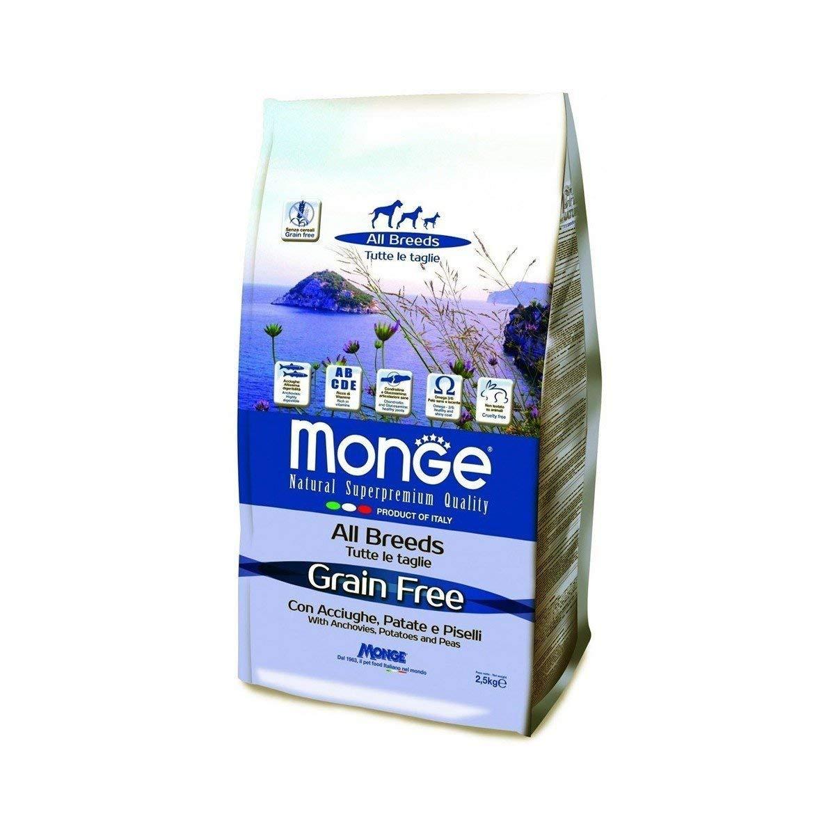 Monge Grain Free Acciughe/Patatas/PiSeLLi kg. 12: Amazon.es ...