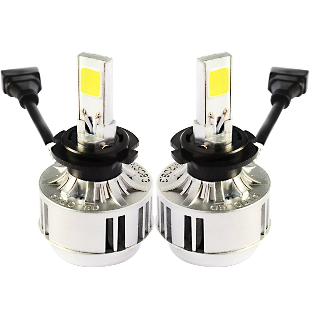 d420862ae57 Racbox H7 66W Car LED Headlight Bulb 6000LM COB LED Chip Fog Lamp Auto Car  Headlamp Conversion Kit Plug & Play 33W/Bulb Replace for Halogen or HID  Bulbs ...