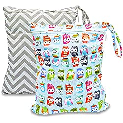 BESEGO 2pcs Baby Wet and Dry Cloth Diaper Bags