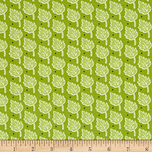 Henry Glass & Company Bungle Jungle Leaf Print Green Fabric By The Yard - Jungle Print Fabric