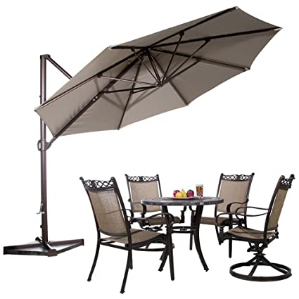 Abba Patio Offset Cantilever Umbrella Outdoor Patio Hanging Umbrella