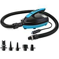 VACHAN Electric Air Pump Compressor - 16PSI Air Pump with LCD Digital, 110W 12 Volt Quick Air Inflator - for Stand Up…