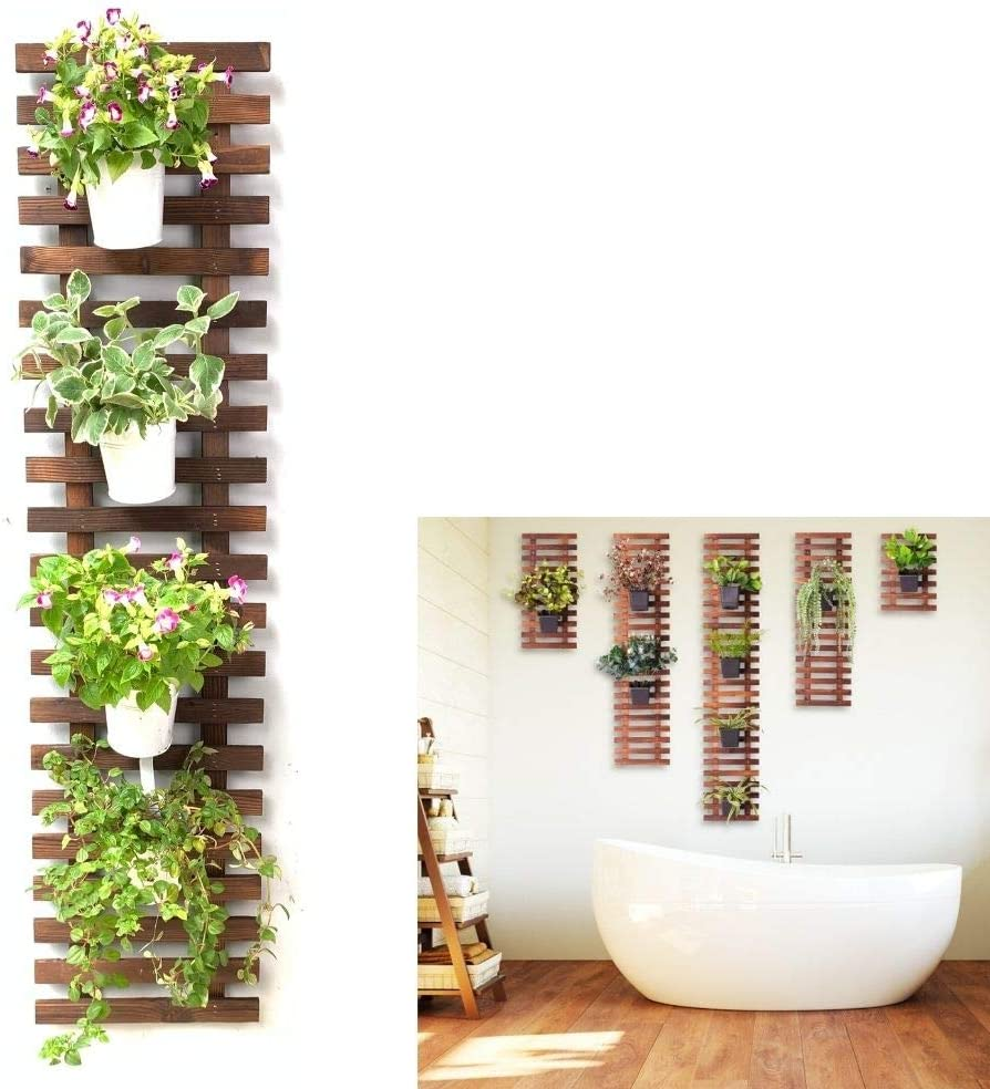 Wall Planter – Wooden Hanging Planter for Indoor Outdoor Plants, Wall Trellis, Plant Stand, Vertical Garden. Large Wall Decor for Living Room, Room Decor for Teen Girls