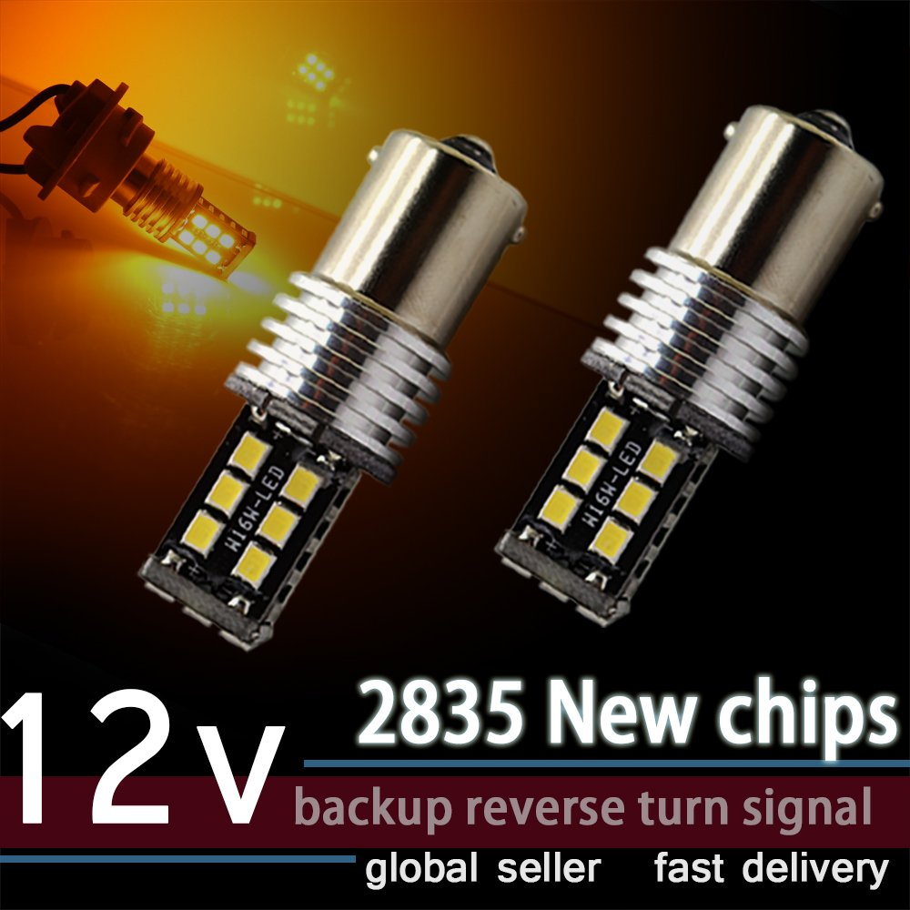 1156 7506 BAU15S Backup Reserve Daytime Running Lights 15SMD 2835 P21W 1141 LED Bulb Super Bright Pack of 2 Xenon White CIIHON 4333015850