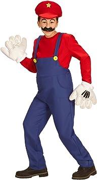NET TOYS Disfraz Infantil Super Mario - 123 - 128 cm, 5 - 7 años ...