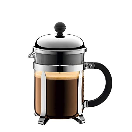 Bodum Chambord - Cafetera, color transparente, acero inoxidable, 166 x 190 x 105 mm, 0.5l, 17oz